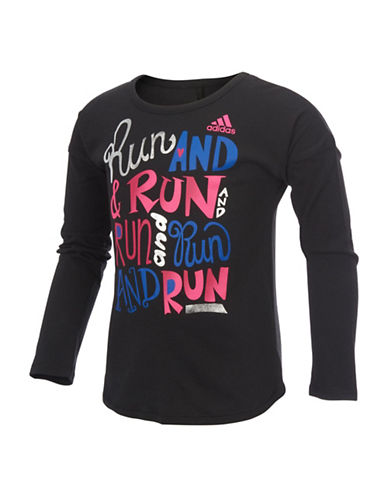 Adidas Run Graphic Tee-BLACK-6X