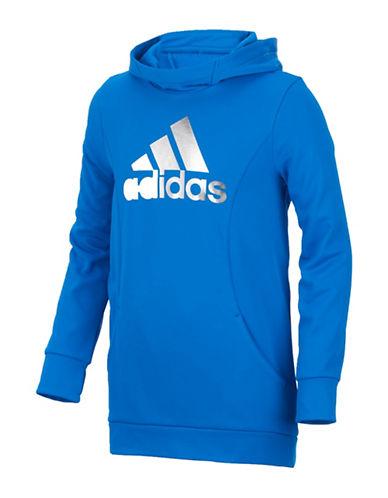 Adidas Performance Logo Hoodie-BLUE-6X