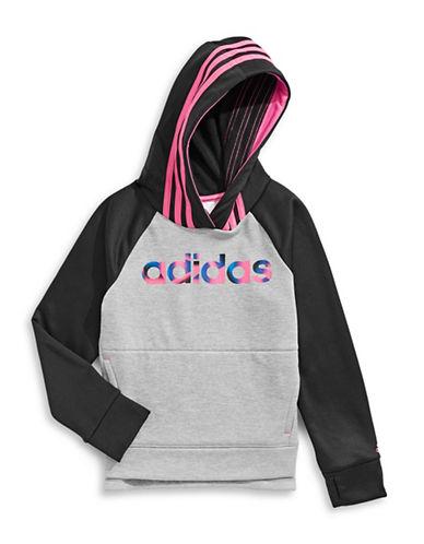 Adidas Raglan Sleeve Hoodie-BLACK-2X