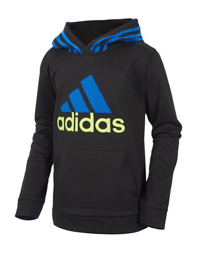 Adidas Classic Fleece Hooded Pullover-BLACK-Small