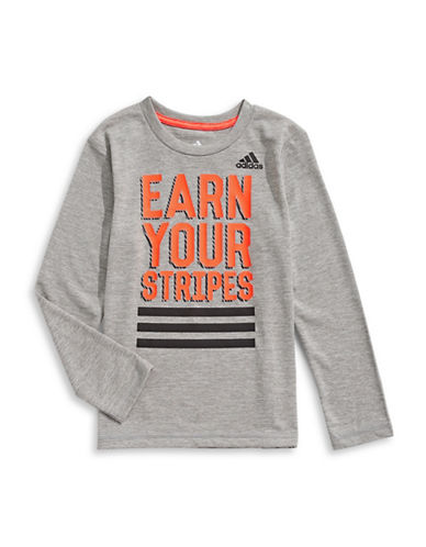 Adidas Earn Your Stripes Tee-GREY-4