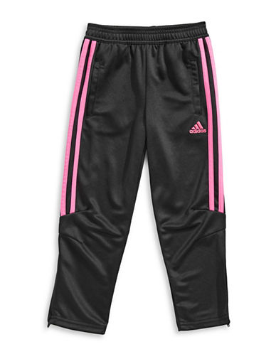 Adidas Striped Athletic Pants-BLACK-2X