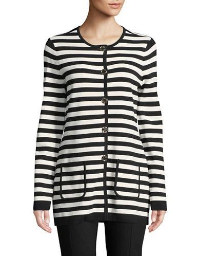 Tommy Hilfiger Stripe Long-Sleeve Jacket-BLACK/WHITE-Large