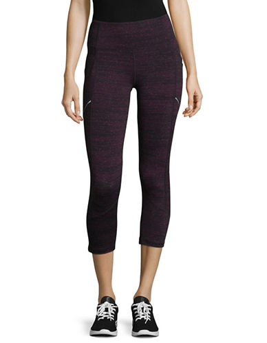 Calvin Klein Performance Colourblock Compression Capri Leggings-PURPLE-Large