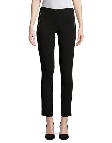 Calvin Klein Skinny Scuba Crepe Pants-BLACK-12