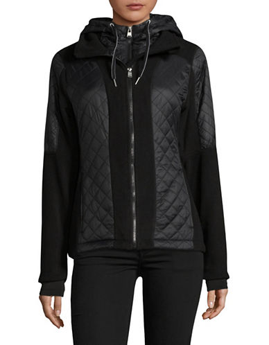 Calvin Klein Performance Classic Nylon Coat-BLACK-X-Small