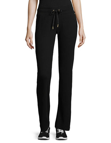 Calvin Klein Performance Classic Drawstring Pants-BLACK-Large