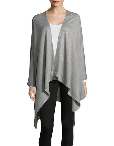 Calvin Klein Embellished Ruana-GREY-One Size