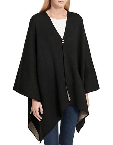Calvin Klein Reversible Ruana-BLACK-One Size