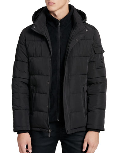 Calvin Klein Weather Resistant Puffer Jacket-BLACK-XX-Large