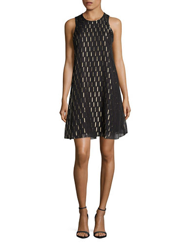 Calvin Klein Sleeveless Shift Dress-BLACK-12