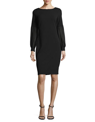 Calvin Klein Balloon Sleeve Sheath Dress-BLACK-6