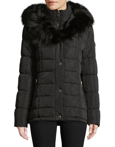 Calvin Klein Faux Fur-Trimmed Down Jacket-BLACK-X-Large 89467281_BLACK_X-Large