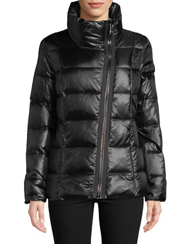 Calvin Klein Quilted Asymmetrical Down Jacket-BLACK-X-Small 89467125_BLACK_X-Small