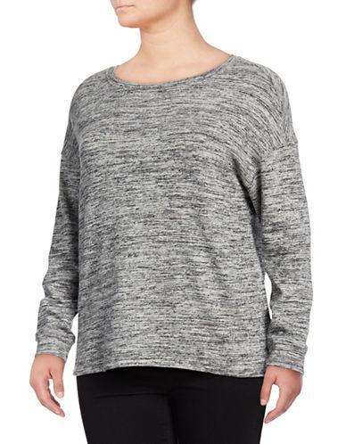 Calvin Klein Performance Plus Heathered Sweater-GREY-1X