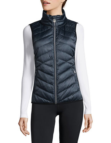 Calvin Klein Performance Down Fill Quilted Vest-BLUE-Medium