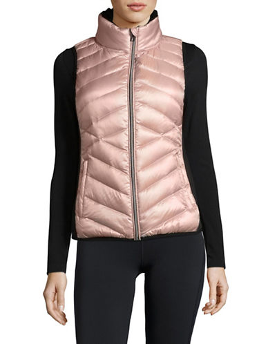 Calvin Klein Performance Down Fill Quilted Vest-PINK-Large
