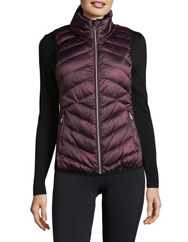 Calvin Klein Performance Down Fill Quilted Vest-PURPLE-Medium
