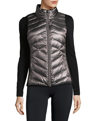 Calvin Klein Performance Down Fill Quilted Vest-METALLIC-Medium