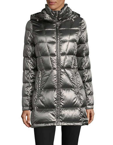 Calvin Klein Packable Down Jacket-GREY-X-Small