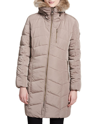Calvin Klein Faux Fur Puffer Jacket-OWL-Medium