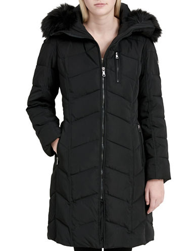Calvin Klein Faux Fur Puffer Jacket-BLACK-Medium 89467086_BLACK_Medium