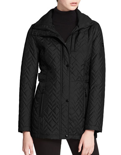 Calvin Klein Chevron Quilted Jacket-BLACK-3X