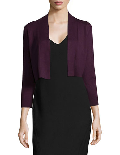 Calvin Klein Crop Open Front Cardigan-PURPLE-Small