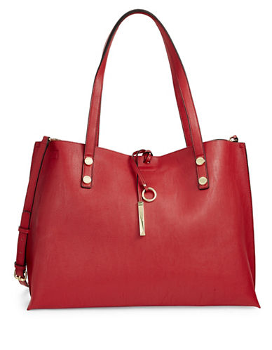 Calvin Klein Unlined Reversible Tote Bag-RED-One Size