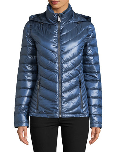 Calvin Klein Packable Down-Filled Zip Puffer Jacket-BLUE-Large