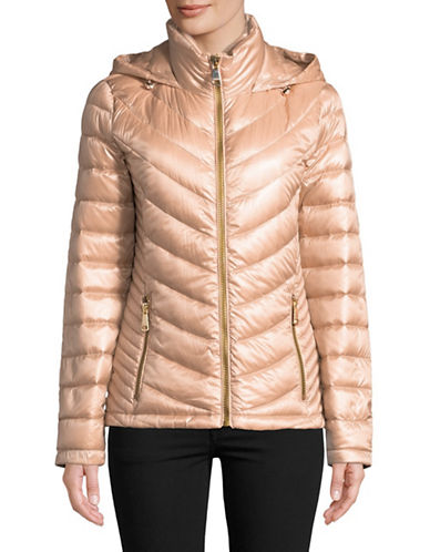 Calvin Klein Packable Down-Filled Zip Puffer Jacket-PINK-Medium