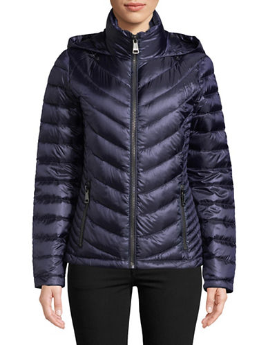 Calvin Klein Packable Down-Filled Zip Puffer Jacket-INDIGO-Small