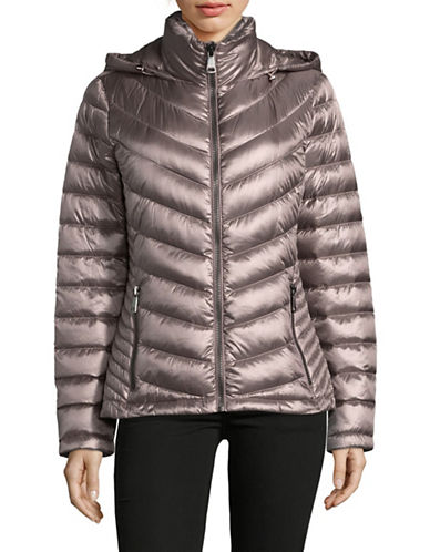 Calvin Klein Packable Down-Filled Zip Puffer Jacket-SHINE FIG-Large