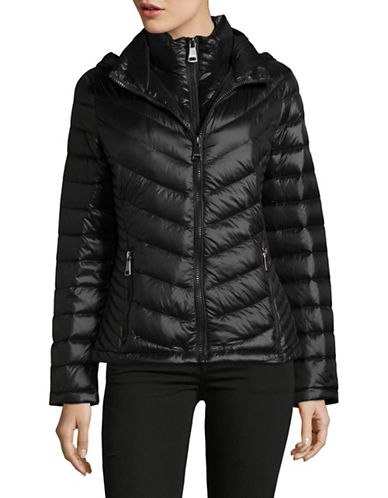 Calvin Klein Packable Down-Filled Zip Puffer Jacket-BLACK-Medium