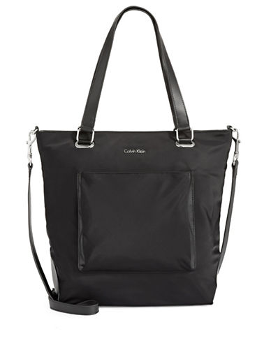 Calvin Klein Convertible Tote-BLACK-One Size