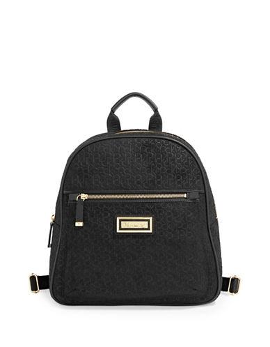 Calvin Klein Monogram Backpack-BLACK-One Size