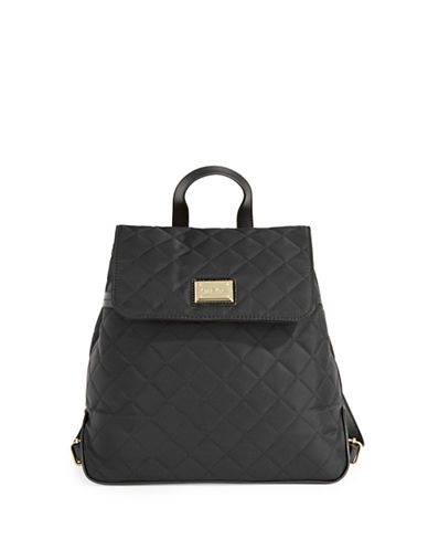 Calvin Klein Quilted Flap Backpack-BLACK-One Size
