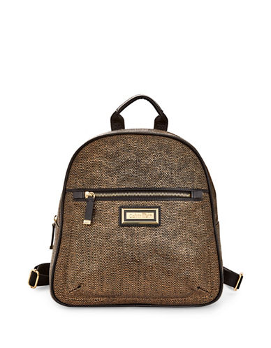 Calvin Klein Textured Backpack-METALLIC-One Size