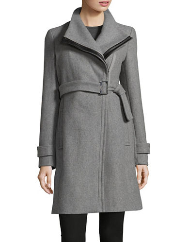 Calvin Klein Essentials Coat with Leather Belt-TIN-16