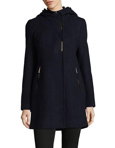 Calvin Klein Hooded Textured Gilet Coat-CHARCOAL-Small 89449330_CHARCOAL_Small