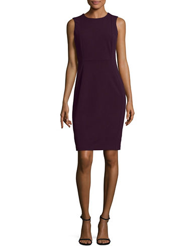 Calvin Klein Sleeveless Scuba Sheath Dress-PURPLE-12