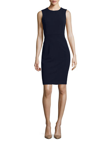 Calvin Klein Sleeveless Scuba Sheath Dress-BLUE-12