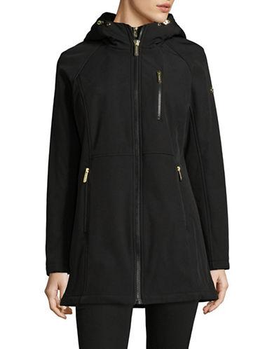 Calvin Klein Wind Resistant Hooded Jacket-BLACK-Large