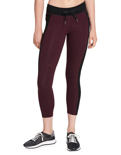 Calvin Klein Performance Colourblock Drawstring Leggings-RED-Small 89738304_RED_Small