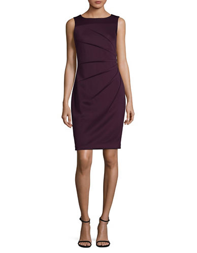 Calvin Klein Starburst Scuba Sheath Dress-PURPLE-4