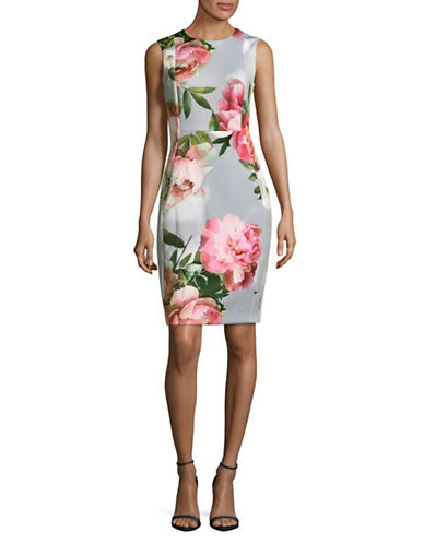 Calvin Klein Floral Sheath Dress-MULTI-8