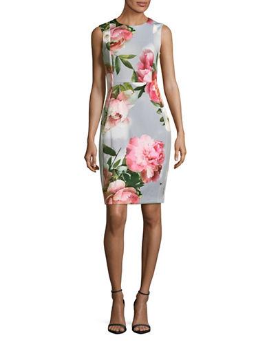 Calvin Klein Floral Sheath Dress-MULTI-2