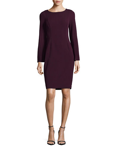 Calvin Klein Split Sleeve Shift Dress-PURPLE-6