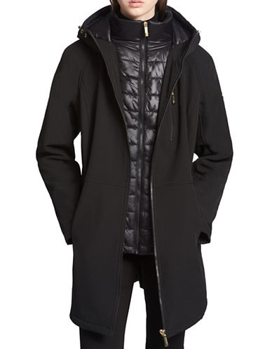 Calvin Klein Hooded Zippered Jacket-BLACK-3X