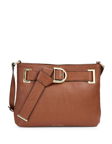 Calvin Klein Belted Crossbody-BROWN-One Size